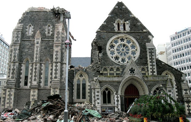 Post Quake Christchurch Cathedral
